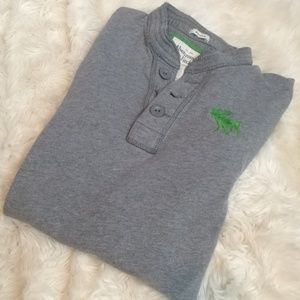 ABERCROMBIE & FITCH Henley Muscle Size Large